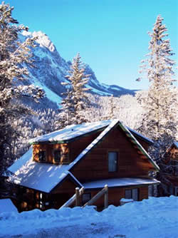 The Alpine Guesthouse in the Winter